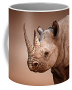 Black Rhinoceros Portrait Coffee Mug