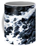 Black Rocks Along The Puna Coast Coffee Mug