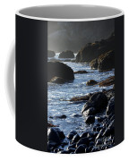 Black Rocks And Sea  Coffee Mug