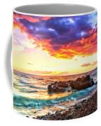 Black Sand Sunset Coffee Mug