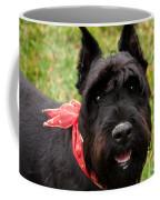 Black German Schnauzer Coffee Mug