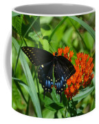 Black Swallow Tail On Beautiful Orange Wildlflower Coffee Mug