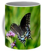 Black Swallowtail Butterfly In Garden Coffee Mug