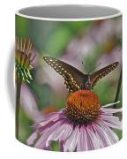 Black Swallowtail On Cone Flower Coffee Mug