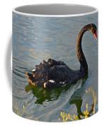Black Swan At Sunset Coffee Mug