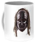 Black Tribal Face Mask On Isolated On White Coffee Mug