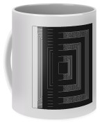 Black White Gray Square Geometric Coffee Mug