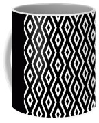 Black And White Pattern Coffee Mug by Christina Rollo