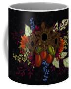 Black With Flowers And Fruit Coffee Mug