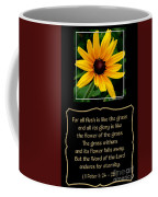 Blackeyed Susan With Bible Quote From 1 Peter Coffee Mug