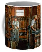 Blacksmith And Apprentice Impasto Coffee Mug