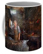 Blacksmith - Working The Forge  Coffee Mug