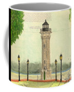 Blackwell Island Lighthouse Ny Chart Map Art Coffee Mug