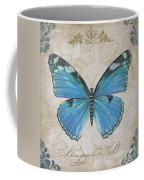 Bleu Papillon-b Coffee Mug
