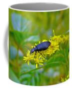 Blister Beetle On Yellow Autumn Flowers Coffee Mug