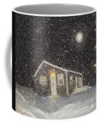 Blizzard At The Cabin Coffee Mug by Barbara Griffin