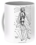 Bloodletting Chart, 1517 Coffee Mug