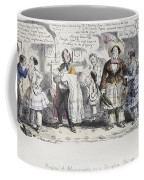 Bloomer Cartoon, C1851 Coffee Mug