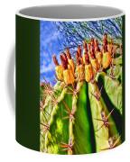Blooming Barrel Cactus By Diana Sainz Coffee Mug