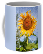Blooming Sunflower V2 Coffee Mug by Adrian Evans