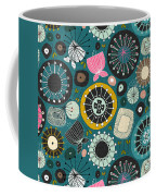 Blooms Teal Coffee Mug