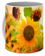 Blossoming Sunflower Beauty Coffee Mug