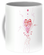 Blossoming Love Pink And Red Valentine Coffee Mug
