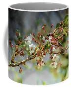 Blossoms And Sparrow Coffee Mug