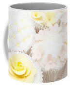 Blossoms And Bows Cupcake Coffee Mug by Anne Gilbert