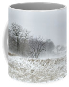 Blowing Snow Over Fields And Forest Coffee Mug