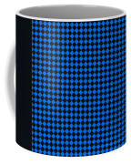 Blue And Black Checkered Pattern Cloth Background Coffee Mug