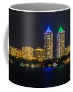 Blue And Green Diamond Twin Towers Coffee Mug