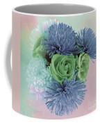 Blue And Green Flowers Coffee Mug