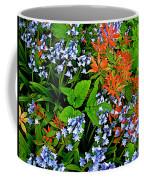 Blue And Red Flowers In Kuekenhof Flower Park-netherlands Coffee Mug