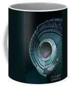 Blue And Silver Spiral Stairs Coffee Mug