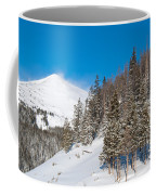 Blue And White Colorado Winter Coffee Mug