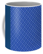 Blue And White Diagonal Plaid Pattern Cloth Background Coffee Mug