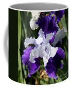 Blue And White Iris Coffee Mug
