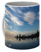 Brushstrokes On The Sky - Blue And White Serenity Coffee Mug
