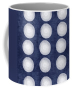 Blue And White Shibori Balls Coffee Mug