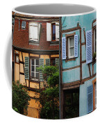Blue And Yellow Buildings In La Petite Venise In Colmar France Coffee Mug