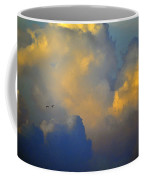 Blue And Yellow Clouds At Sunset With Birds Usa Coffee Mug