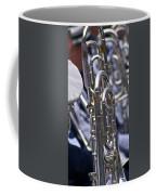 Blue Band Brass Coffee Mug
