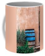 Blue Barrel With Adobe Coffee Mug