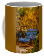 Blue Bench - Autumn - Deer Isle - Maine Coffee Mug