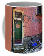 Blue Bicycle Monterosso Italy Dsc02592  Coffee Mug