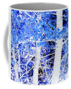 Blue Birch Trees Coffee Mug