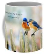 Blue Bird Love Notes Coffee Mug by Scott Pellegrin
