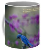 Blue Bird Praying Coffee Mug