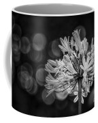 Blue Blooms B/w Coffee Mug